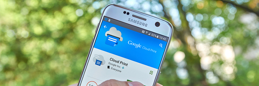 Utilizing Google's Cloud Print service